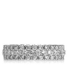 Michelle Mone for Diamonique 1.5ct tw Chevron Eternity Ring Sterling Silver