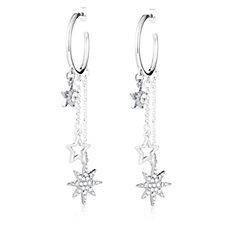 Bibi Bijoux Star & Crystal Hoop Earrings