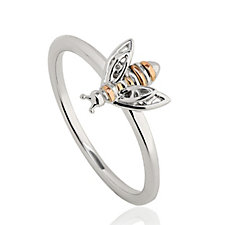 Clogau 9ct Rose Gold & Sterling Silver Honey Bee Ring