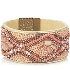 Frank Usher Crystal Bead Magnetic Bracelet