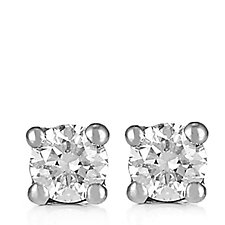0.10ct Diamond Round Brilliant Cut Stud Earrings 9ct Gold