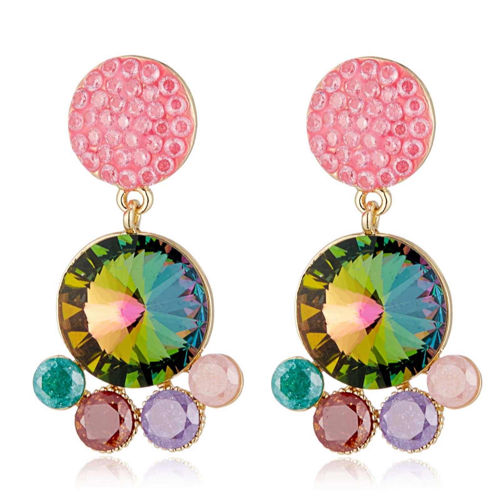 e83dc0fc3fd42 Butler & Wilson Round Drop Earrings - QVC UK