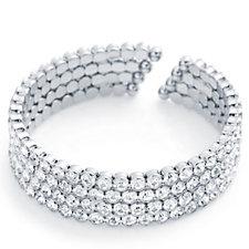 loveRocks Crystal Open Wrap Bracelet