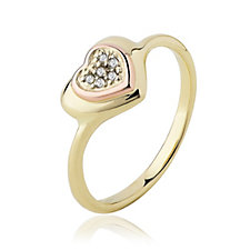 Clogau 9ct Gold David Emanuel Swarovski Topaz Heart Ring