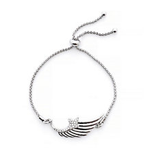Loverocks Crystal Angel Wing Friendship Bracelet