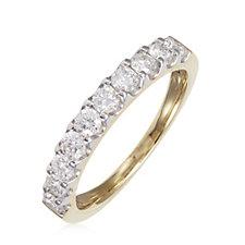 0.75ct Diamond Eternity Ring 9ct Gold