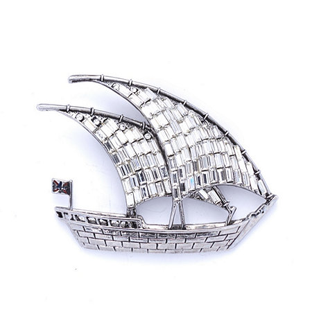 Butler & Wilson Boat with Sails Brooch
