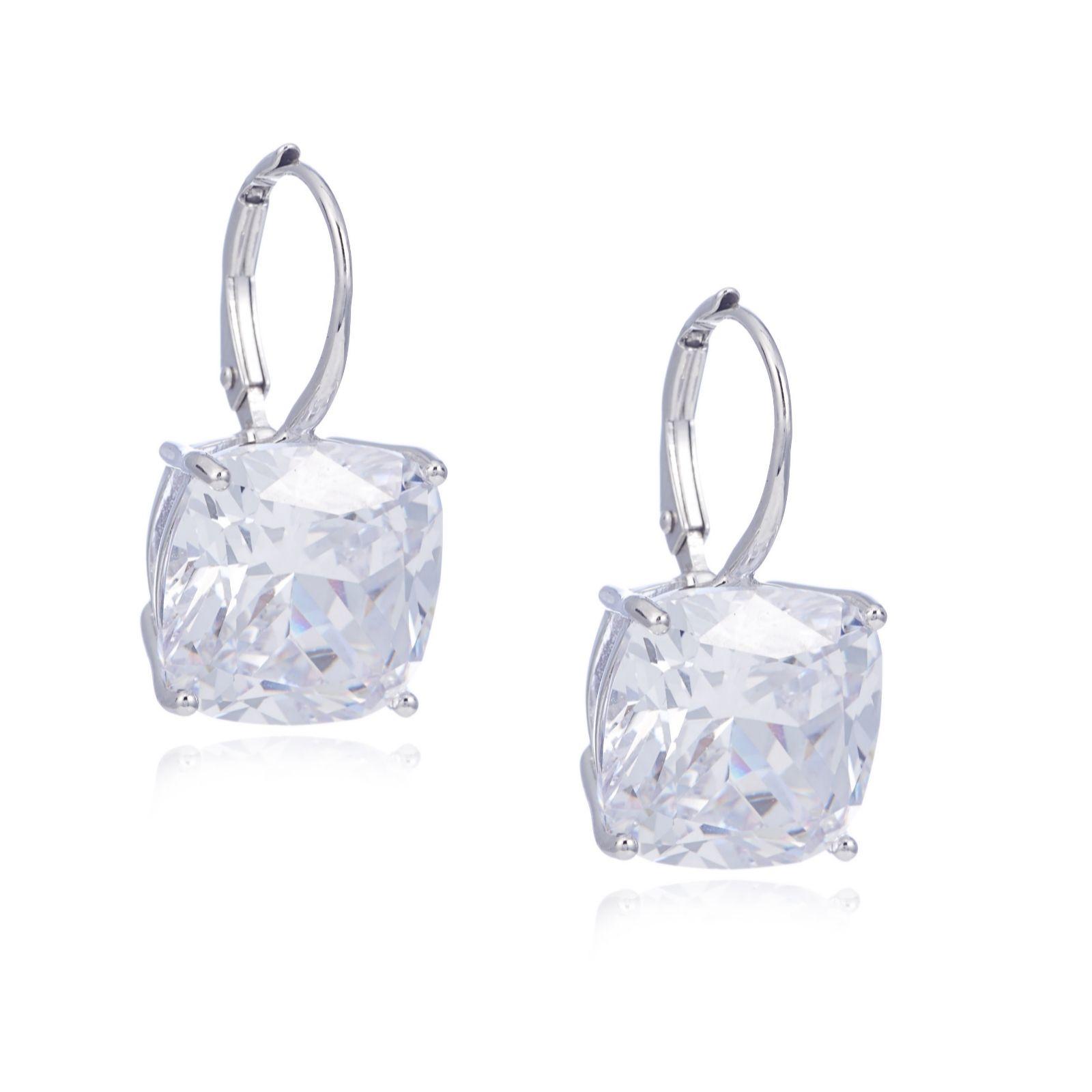 Stunning Cushion Earrings Using Swarovski Denim Blue Earrings Made In Uk.