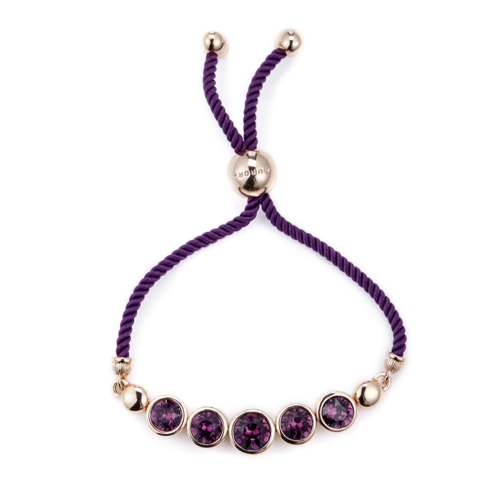 c6f25916498 Aurora Swarovski Crystal Faceted Friendship Bracelet - Page 1 - QVC UK
