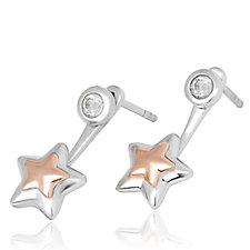 Clogau 9ct Rose Gold & Sterling Silver David Emanuel Topaz Ear Jackets