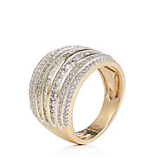 340855 - 1.00ct Diamond Cocktail Band Ring 9ct Gold