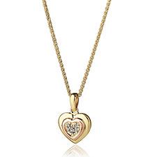 Clogau 9ct Gold David Emanuel Swarovski Topaz Heart Necklace