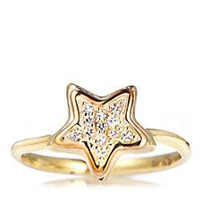 Clogau 9ct Gold David Emanuel Swarovski Topaz Star Ring