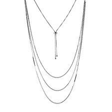Loverocks Crystal Layer Adjustable Necklace