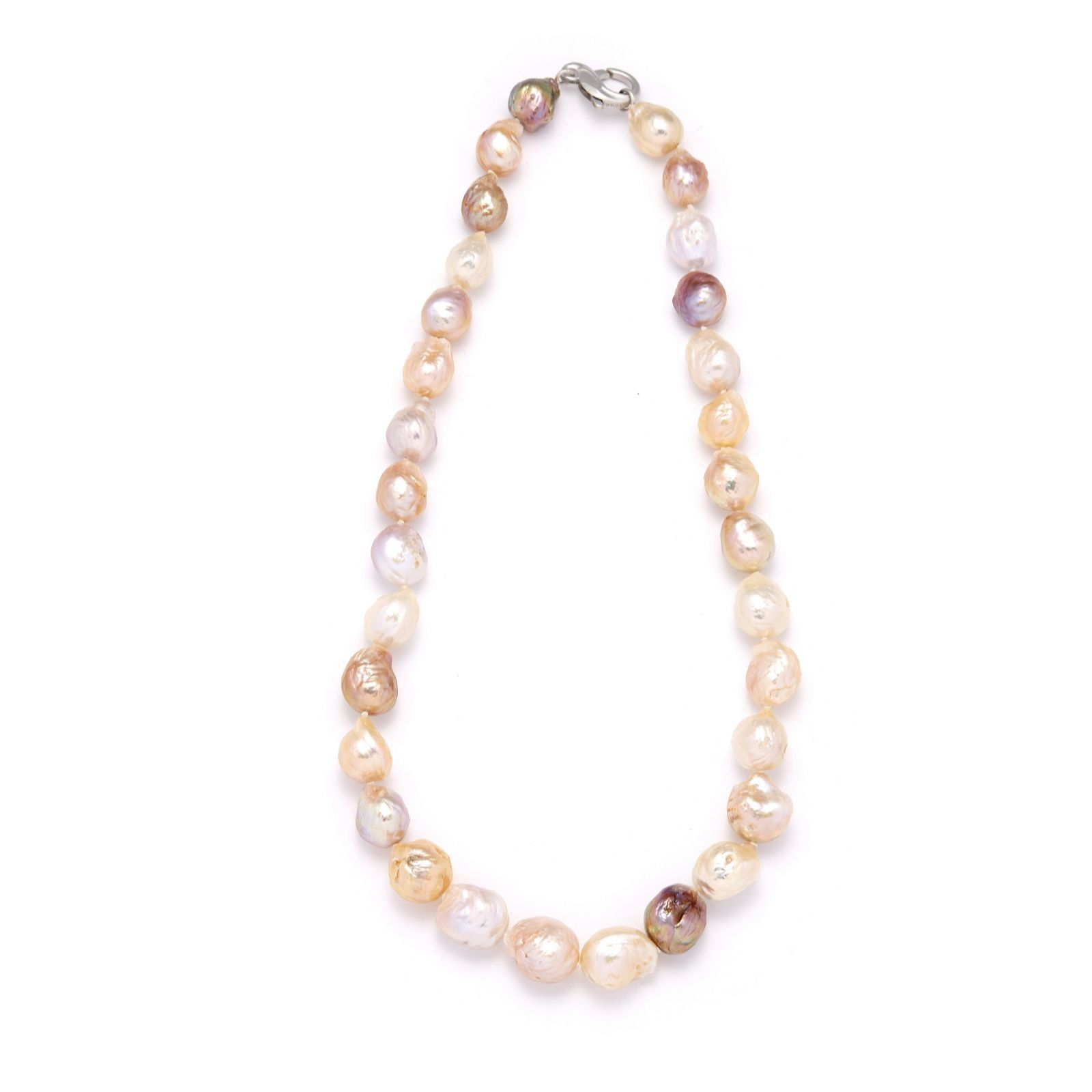 0098b5a6f08ca Honora 12-14mm Cultured Ming Pearl 50cm Necklace Sterling Silver - QVC UK