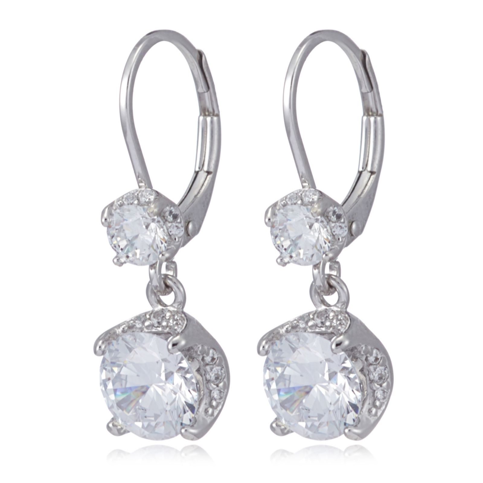 Glitz Glam Blue Diamontrigue Jewelry: Diamonique 3.7ct Tw Ultimate Glamour Leverback Earrings