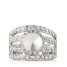loveRocks Crystal Center Piece Multi Row Ring