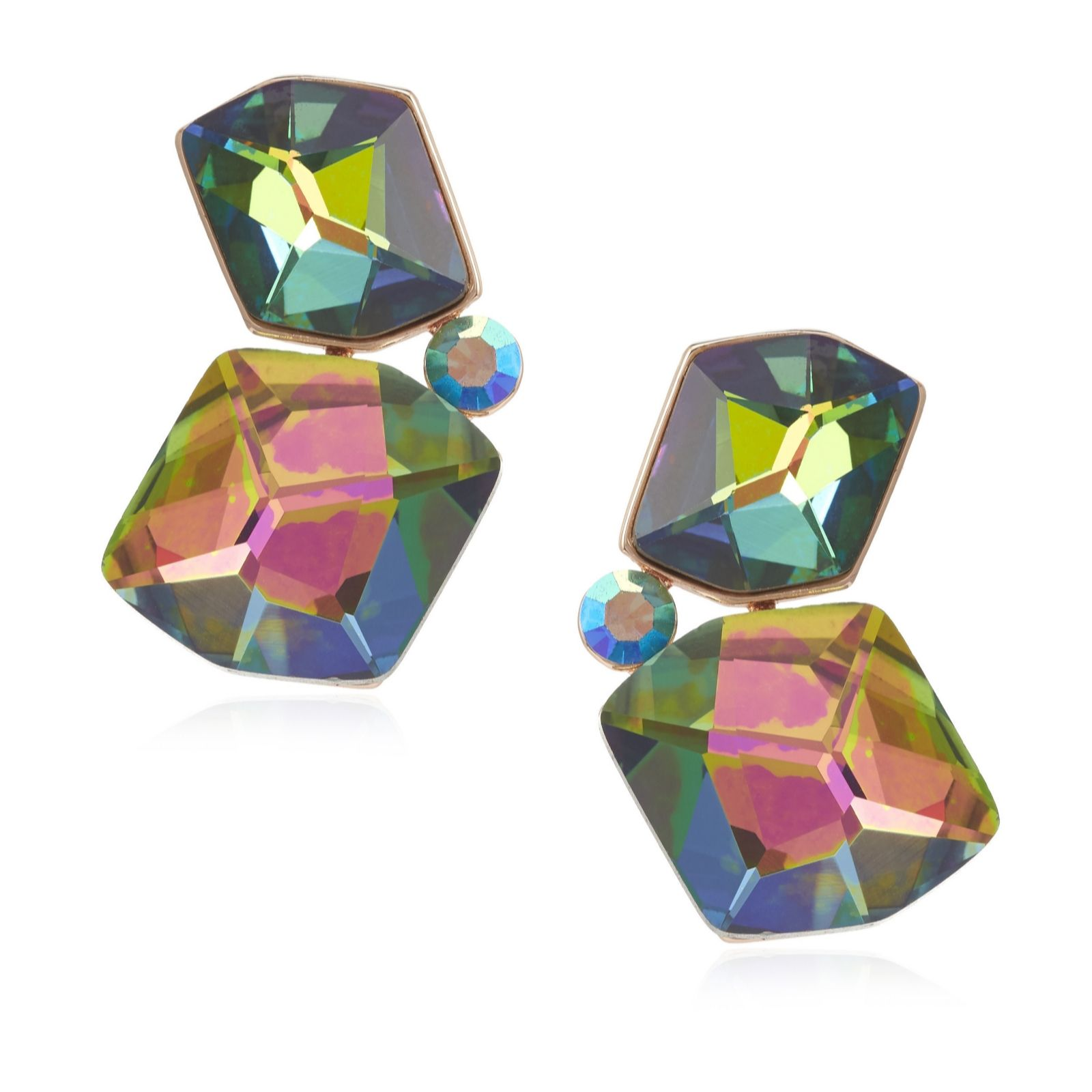 a9b8725d2 Butler & Wilson Chunky Stones Drop Earrings - QVC UK
