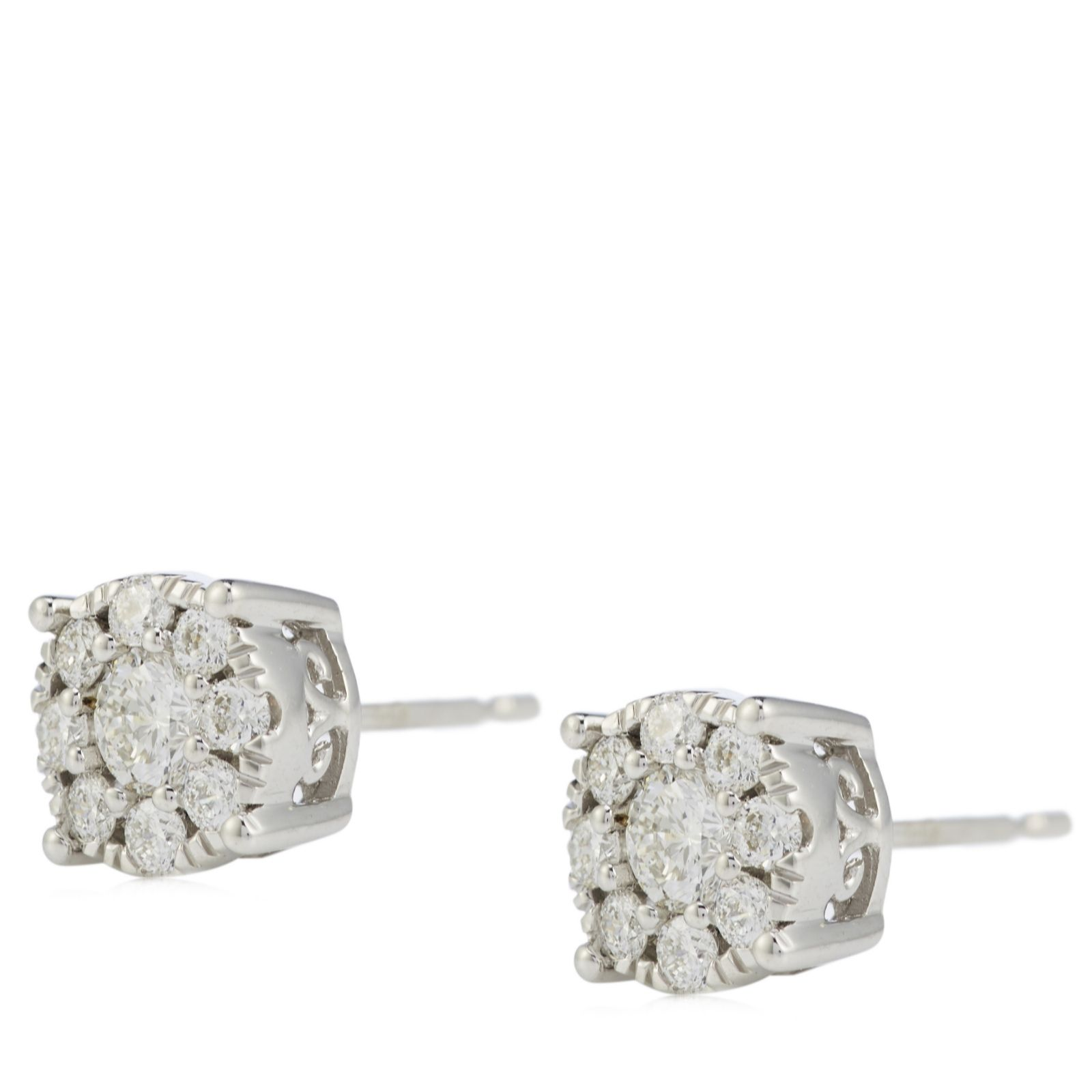 3a9985a5a33a6 Outlet 0.50ct Diamond 98 Facets Special Cut H SI2 Stud Earrings 9ct Gold -  QVC UK