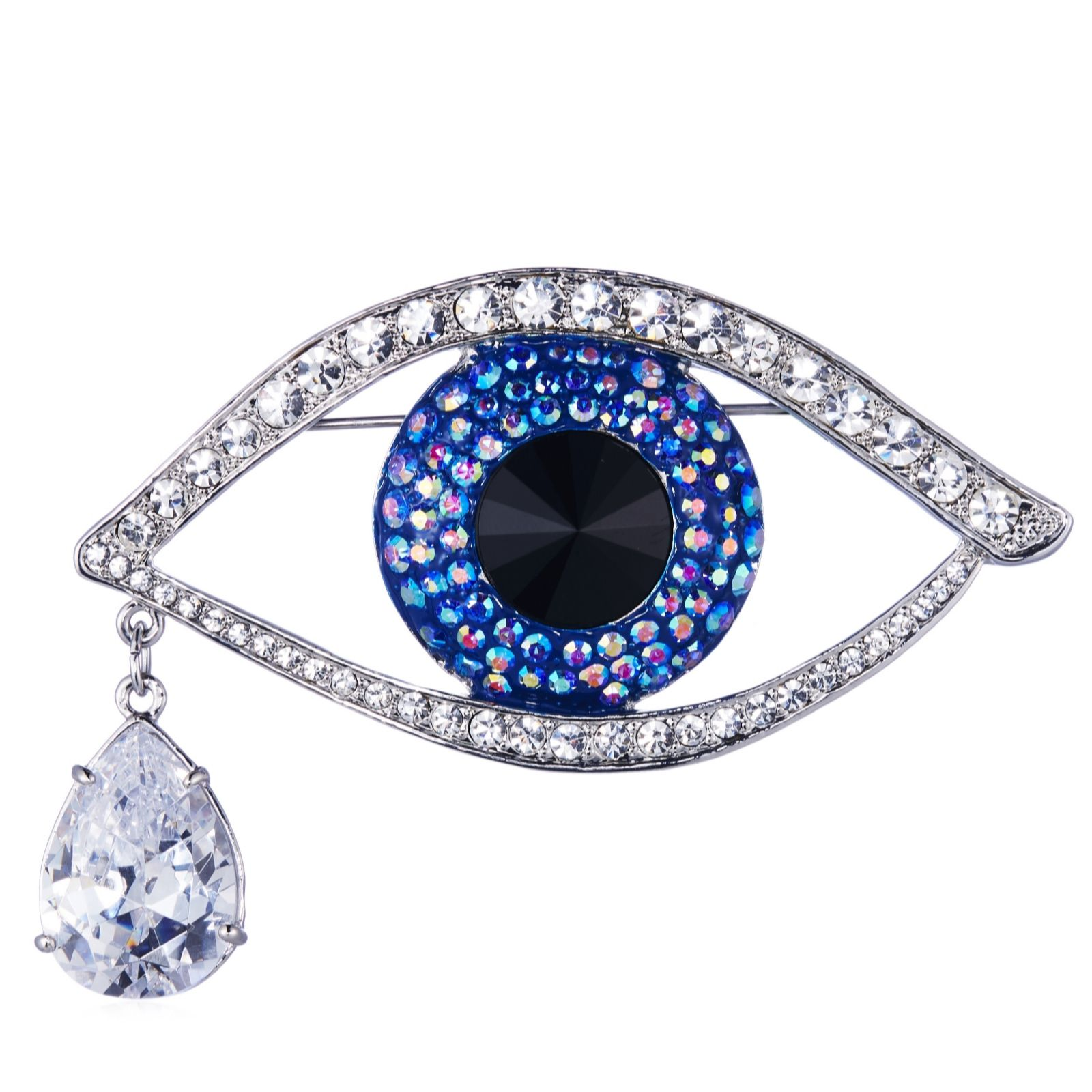 f0769b50d Butler & Wilson Large Crystal Eye Brooch - Page 1 - QVC UK