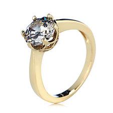 Diamonique 2ct tw Simulated Grey Diamond Soiltaire Ring Sterling Silver