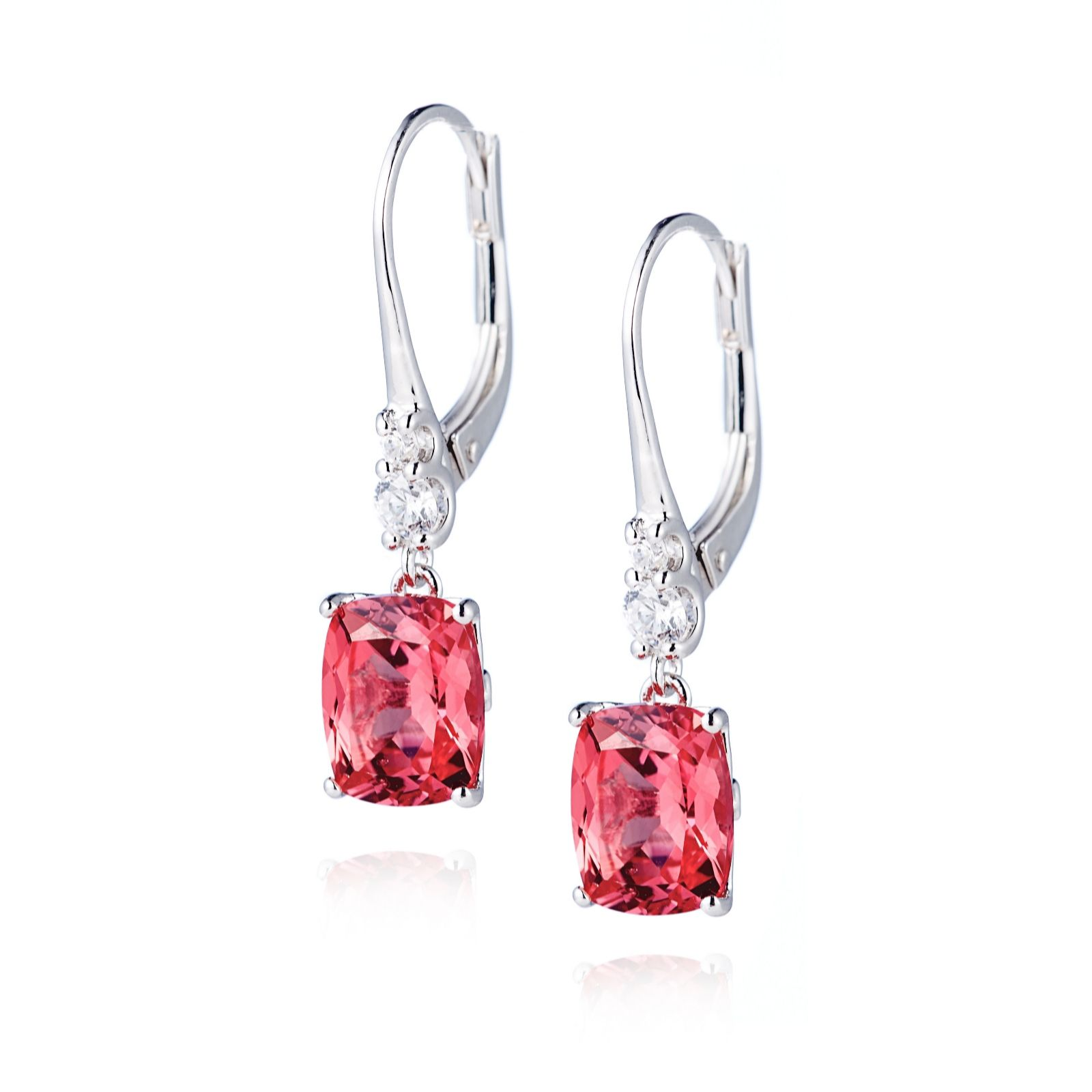 470978eb9 Diamonique 4.7ct tw Simulated Red Diamond Earrings Sterling Silver ...