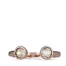 Aurora Swarovski Crystal Nearly There Ring