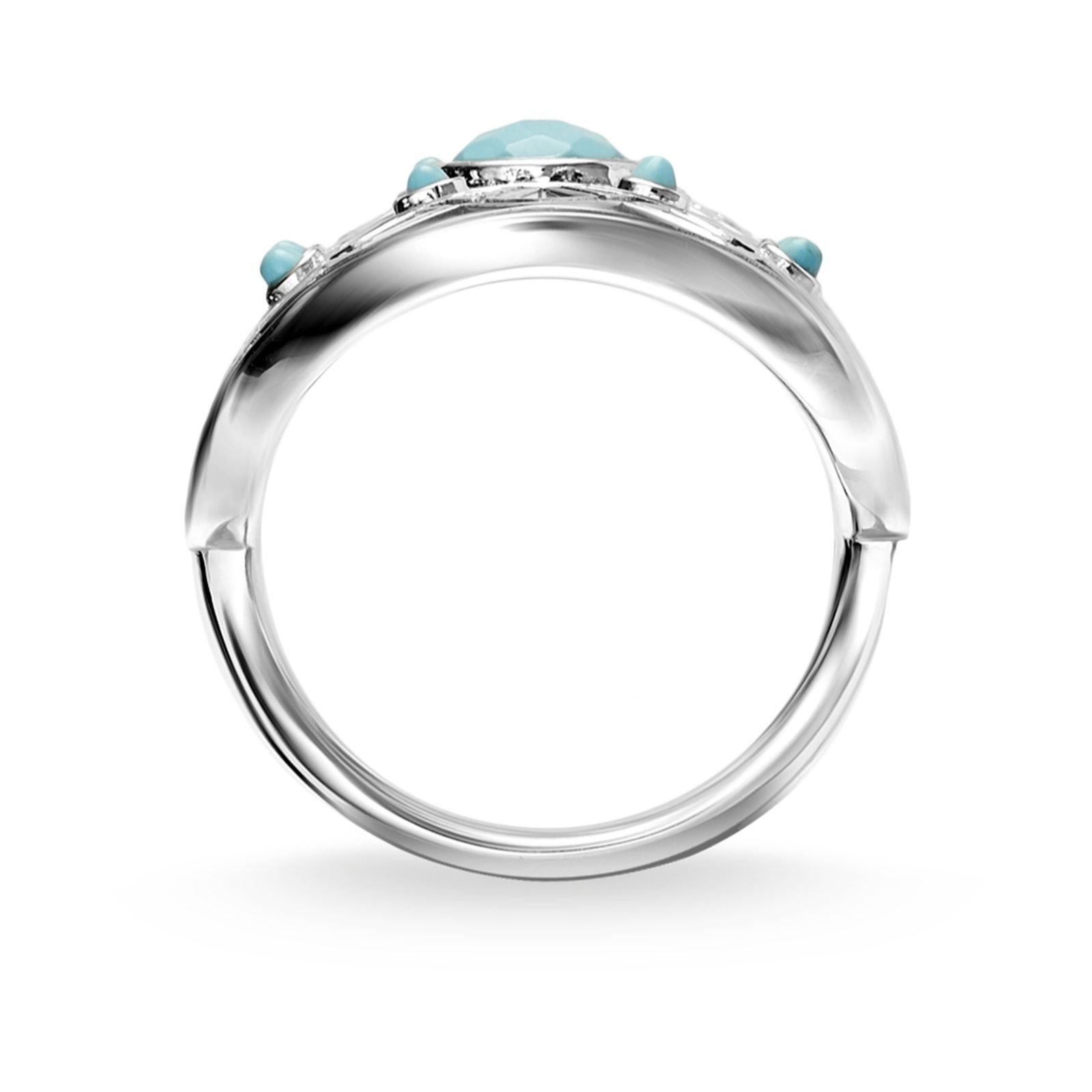 d517859ad Thomas Sabo Dreamcatcher Simulated Turquoise Ring Sterling Silver - QVC UK