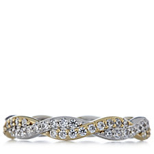 Diamonique 1.2ct tw Twist Ring Sterling Silver