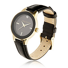 Anne Klein Mother Of Pearl Holly Leather Strap Watch