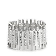 Loverocks Crystal Bar Stretch Bracelet