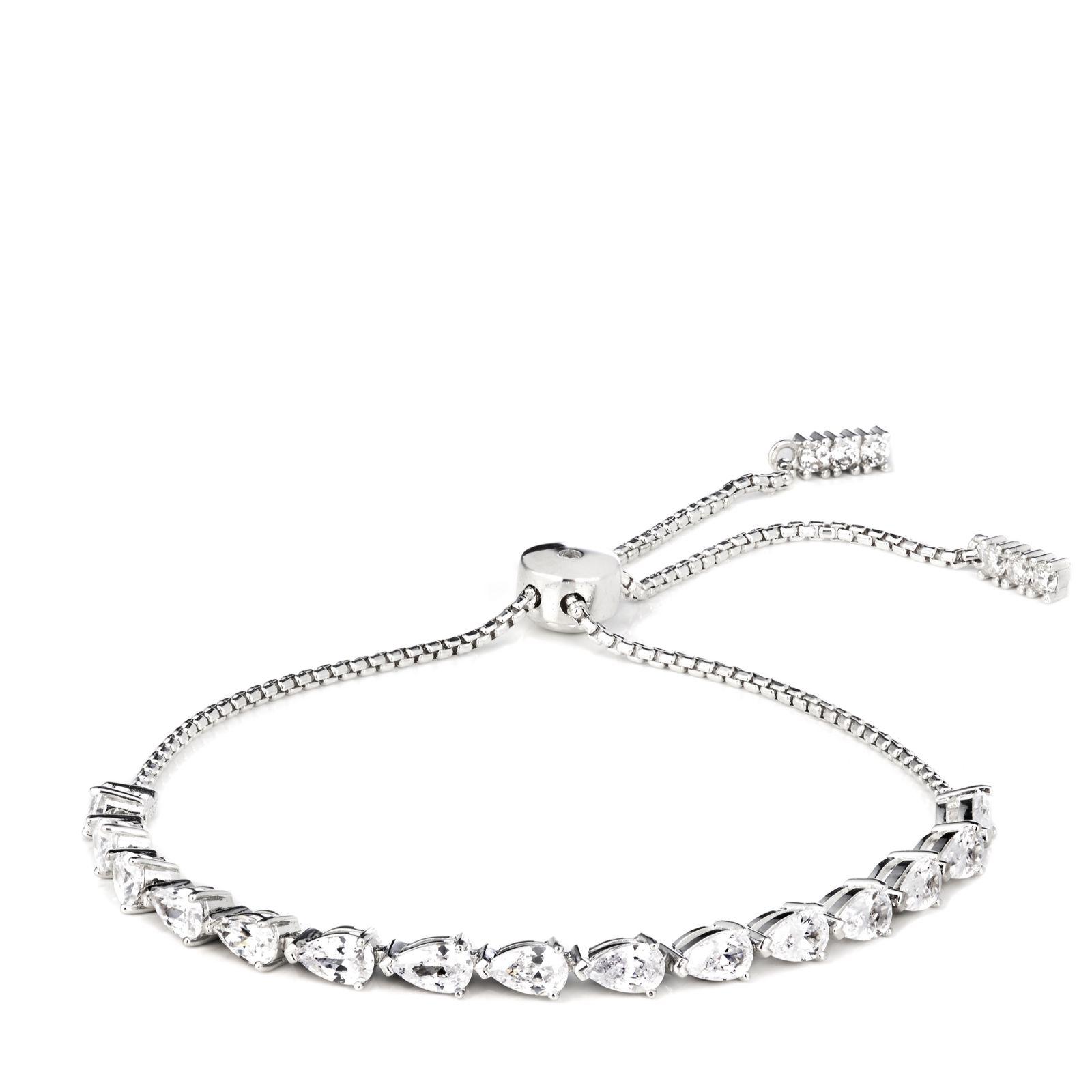 3066dbd27fc70 Diamonique 4ct tw Friendship Bracelet Sterling Silver - QVC UK