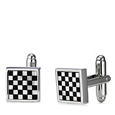 Simon Carter Small Square Chequer Mother of Pearl Cufflinks