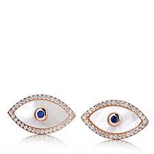 Butler & Wilson Sterling Silver Eye Earrings