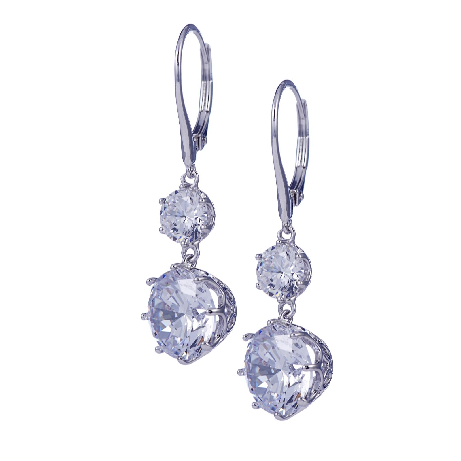 56af6f7c6 Michelle Mone for Diamonique 9.4ct tw Leverback Earrings Sterling ...