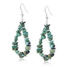 Nizhoni Turquoise Tear Earrings Sterling Silver