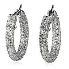 Elizabeth Taylor Simulated Diamond Pave Hoop Earrings