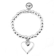 340268 - Bibi Bijoux Heart Charm Ball Bracelet