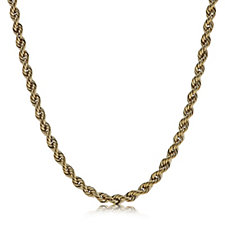 9ct Gold Velvet Rope Chain Necklace