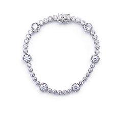Elizabeth Taylor 5.35ct tw Simulated Diamond Station Bracelet