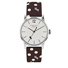 Radley London Vintage Dog & Dot Leather Strap Watch
