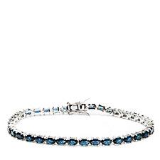 8.50-10.90ct Choice of Created Gemstone 19cm Bracelet Sterling Silver