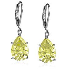 Elizabeth Taylor 9.1ct Simulated Diamond Drop Earrings