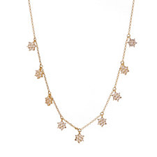 Escape by Melissa Odabash Flower Charm Necklace Sterling Silver