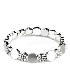 Pilgrim Crystal Stretch Circle Bracelet
