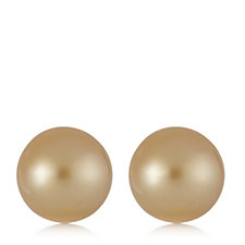 9-10mm Cultured South Sea Pearls Stud Earrings 14ct Gold