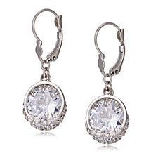 Loverocks Crystal Drop Leverback Earrings