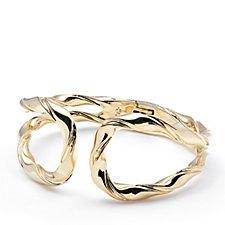 Elizabeth Taylor Textured Hinged Cuff Bracelet