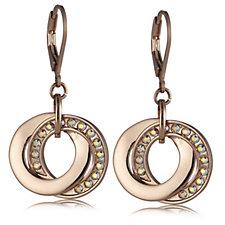 Aurora Swarovski Crystal Interlocking Link Earrings