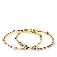 Butler & Wilson Crystal Row Set of Two Bracelets